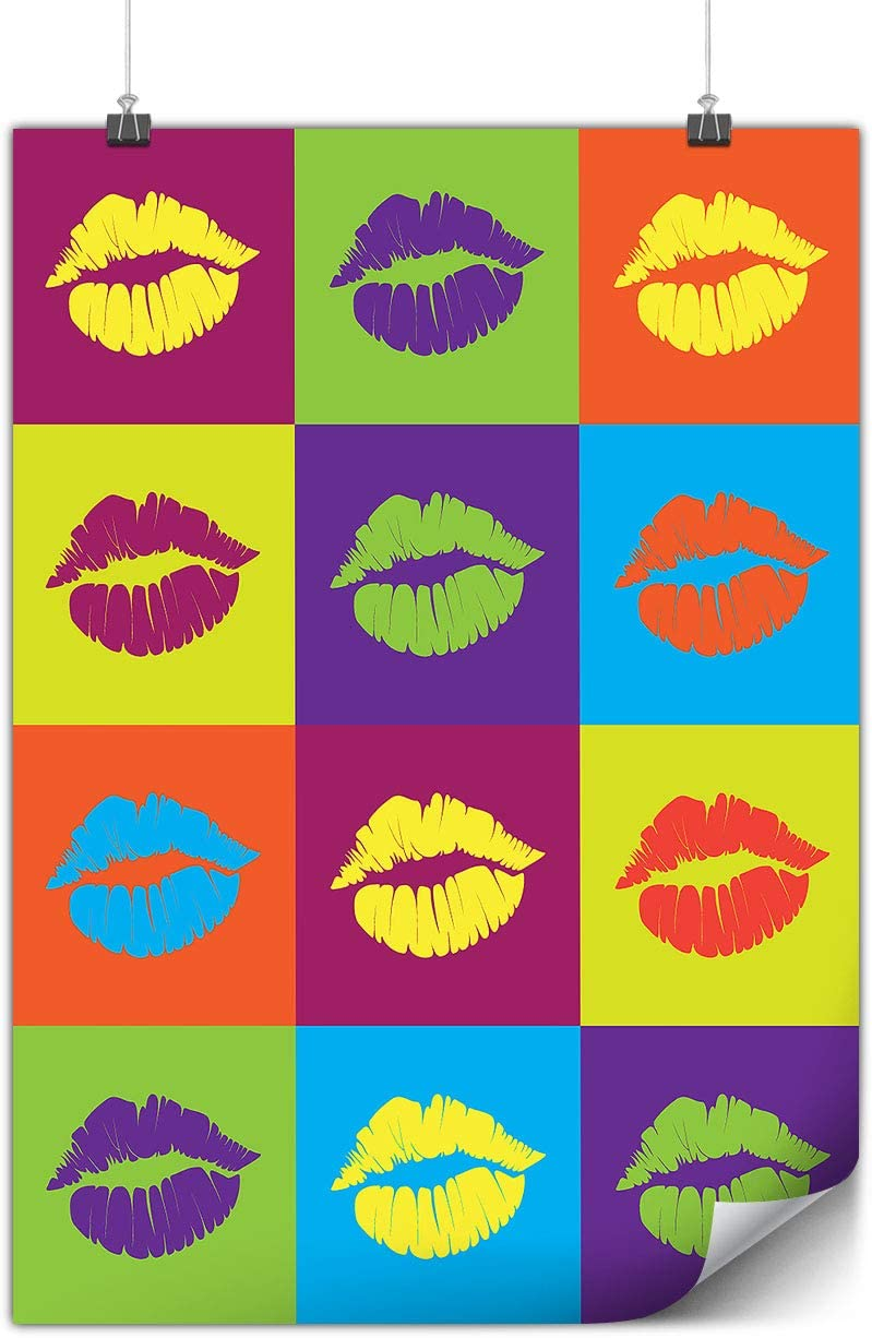 Lips Cool Design Poster Color A3 42cm X 30cm Matte Ideal For Framing Easy To Hang Heavy Weight Paper Art By Wellcoda Amazon Ca Home Kitchen