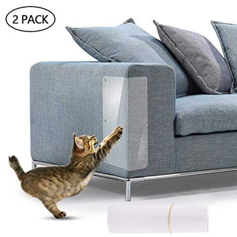 KOBWA - 2 Protectores de plástico para Gatos y Gatos con Almohadillas Autoadhesivas, Parada de Mascotas, Muebles de arañar con fácil instalación