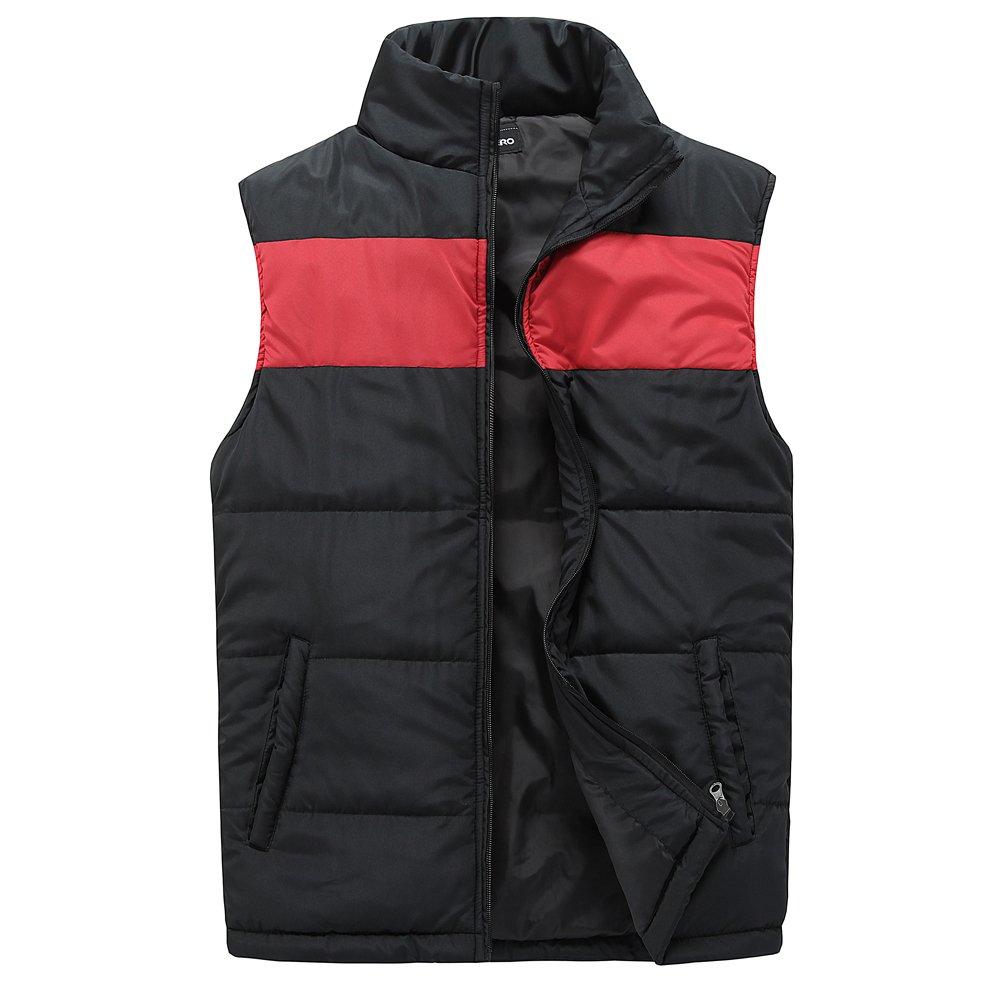 MADHERO Men's Quilted Vest Winter Warm Sleeveless Jacket Pocket Gilet Bodywarmer 6-N1115