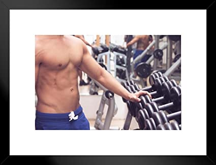 Amazon com: Poster Foundry Muscular Man at The Gym