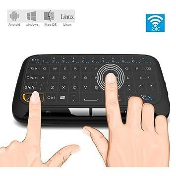 aohro Mini teclado inalámbrico con Touchpad y Touchpad teclado Combo H18 2,4 gHz superficie