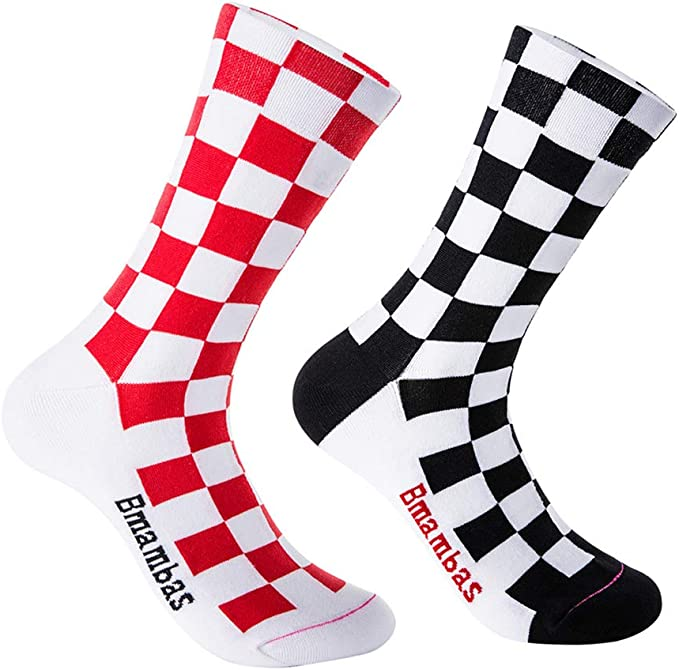Professional Breathable Cycling Calf Socks Colorful Bike Riding Compression Sock