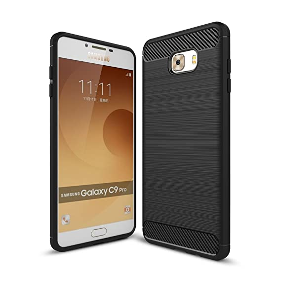 wholesale dealer 94f6f b5598 Amazon.com: For Galaxy C9Pro Case, Ultra-thin Brushed Carbon Fiber ...