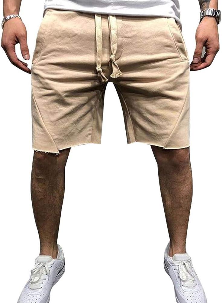 Hombre Pantalones Cortos De Algodón 3/4 Jogger Pantalones Cortos ...