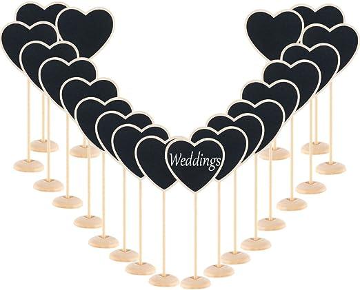 Wedding Love Heart Wooden Cloud Chalkboard Mini Blackboard Message Label
