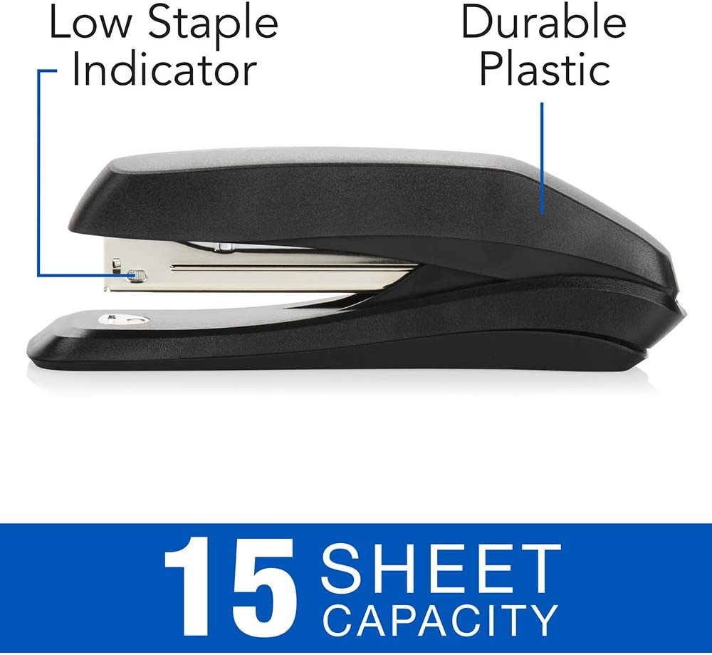 Swingline Stapler Value Pack, Heavy Duty Antimicrobial Stapler for Office Desktop or Home Office Supplies, 15 Sheet Capacity, Resists Bacteria, Includes Staples & Stapler Remover (754551) : Stapler With Staples : Office Products