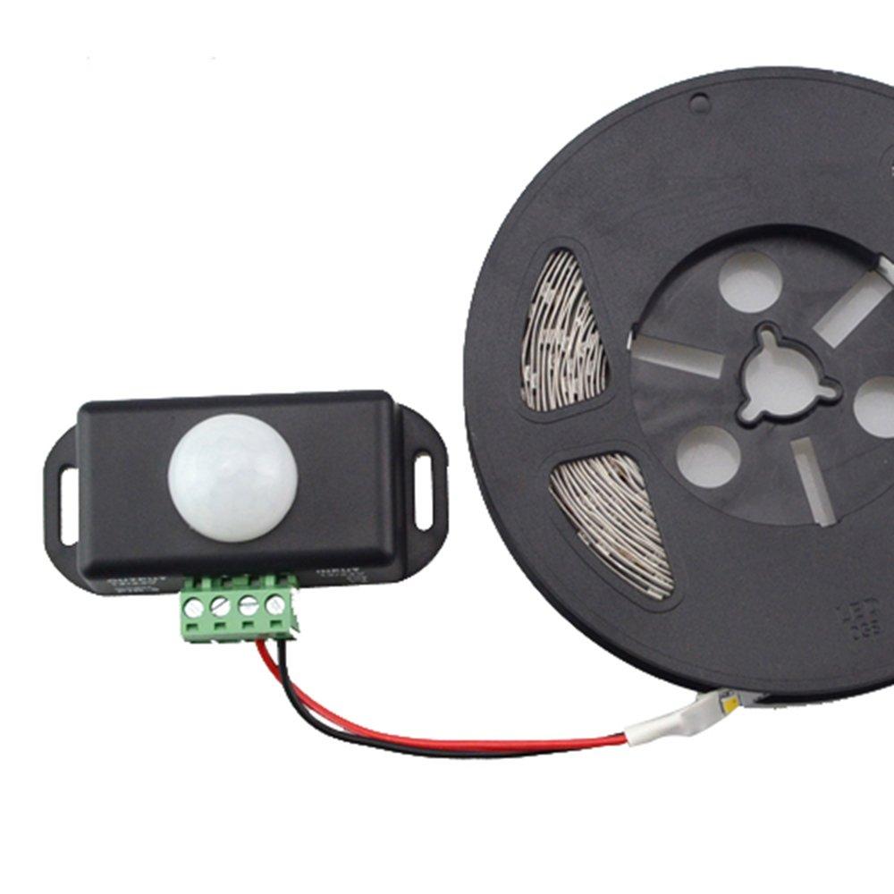 RGBZONE DC 12V//24V 8A Body Infrared PIR Motion Sensor Switch For LED Light Strip Automatic