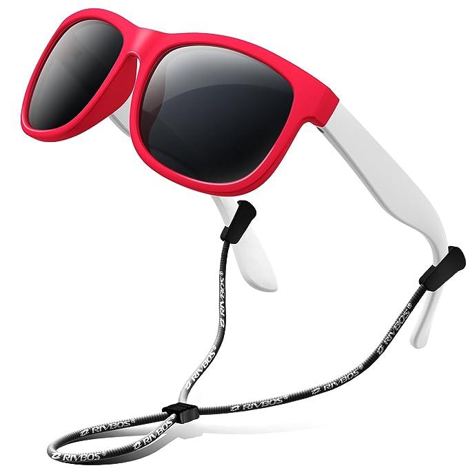RIVBOS RBK023 Unisex al Aire LibreTR90 Polarizadas Gafas de sol Infantiles Bowknot Estilo para Bebés y Niños Edad 3-6 rojo: Amazon.es: Ropa y accesorios