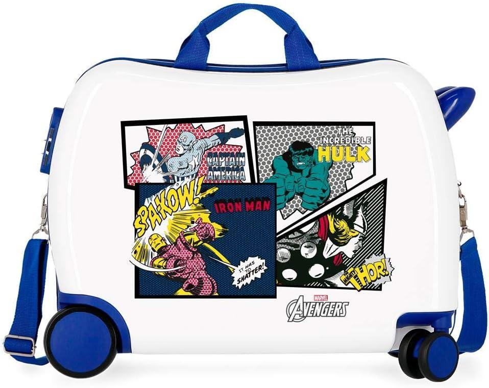 Marvel Los Vengadores Sky Avengers Maleta Infantil Multicolor 50x38x20 cms Rígida ABS Cierre combinación 34L 2,1Kgs 4 Ruedas Equipaje de Mano