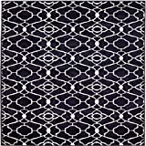 New Summit Elite S 67 Navy Blue White Trellis Garden Modern Abstract Area Rug (22 inch x 7 Foot Long Runner) Review