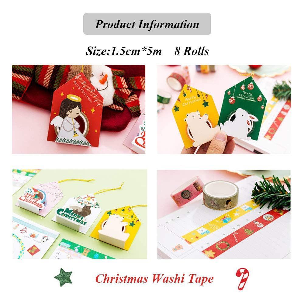 schizzi Lomofila Washi tape set di 10 rotoli di nastro decorativo coprente per lavoretti di fai da te diari biglietti