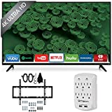 Vizio D50u-D1 D-Series - 50-Inch 120Hz 4K Ultra HD LED Smart HDTV Wall Mount Bundle includes 50-Inch 4K TV, Slim Flat Wall Mount Ultimate Bundle and Surge Protector with USB Ports