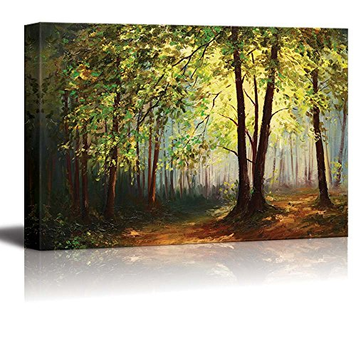 Oil Painting Style Landscape Summer Forest ation