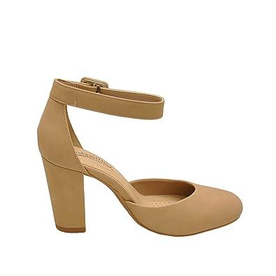fec5a454f40b City Classified Kaili Women s Closed Toe Ankle Strap Block Heel (10