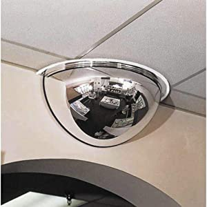 "See All PV18-180 Panaramic Full Dome Plexiglas Security Mirror, 180 Degree Viewing Angle, 18"" Diameter (Pack of 1)"