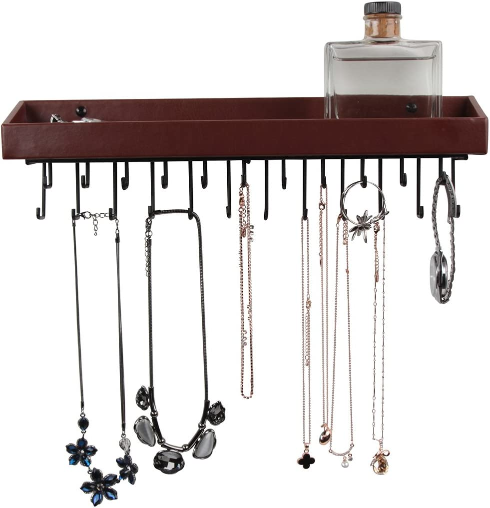 Jack Cube Aufh/ängung Jewelry Organizer Halskette Aufh/änger Armband Halterung Wandhalterung Halskette Organizer mit 23/Haken mk208/a