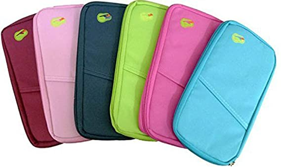Evana Multicolor Passport Wallet  Colour As Available