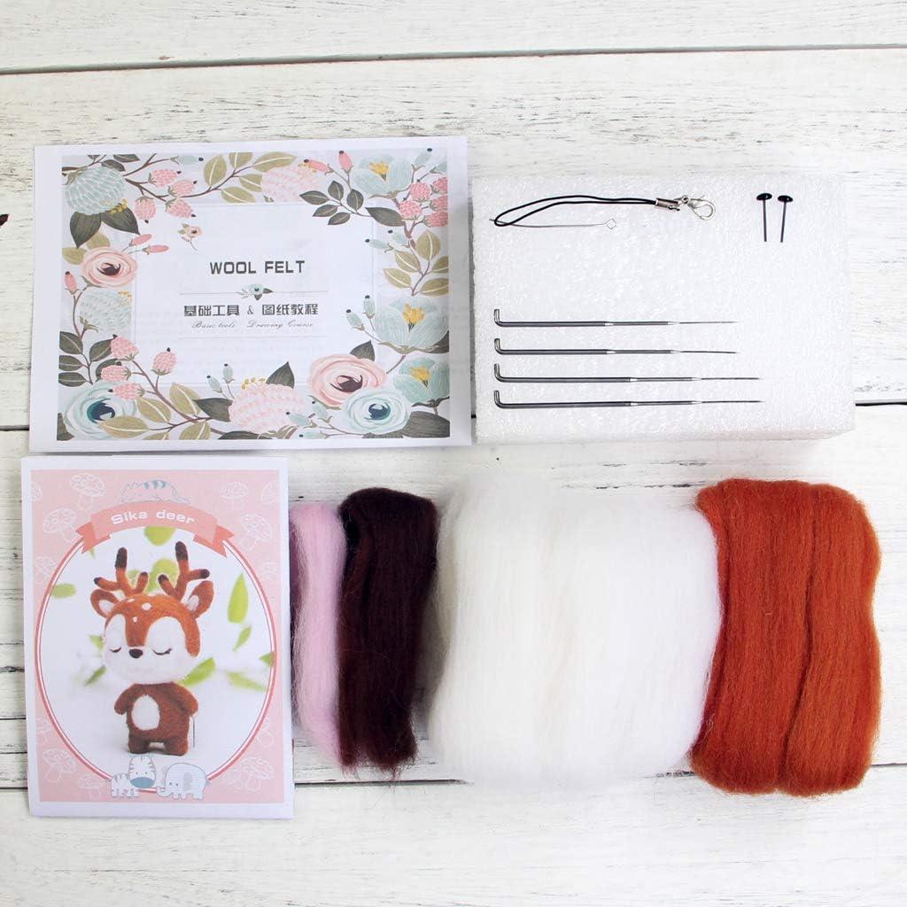 Yisily Wolle Filznadeln DIY Material Paket Nadelfilzen Filzwolle Roving Kit Bunte Wolle Spinnen Kunsthandwerk zum Geburtstag Geschenk 36PCS