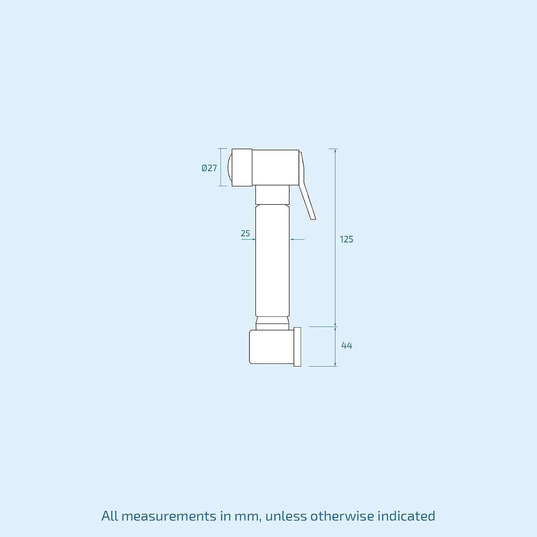 Kit de douche Hansvit Dc82/rond thermostatique chrome