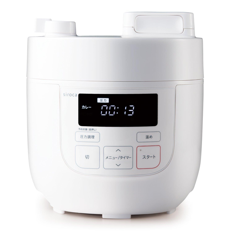 siroca 電気圧力鍋 SP-D121 レッド[圧力/無水/蒸し/炊飯/温め直し/コンパクト] B0762R22NQ レッド