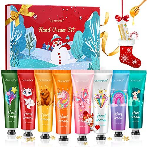 🥇 Set Regalo de Crema Manos-GLAMADOR Crema de Manos 8PCS para Pieles Sensibles y Manos Secas