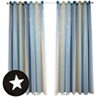 2 Piezas Cortinas opacas Stars para dormitorio: cortinas