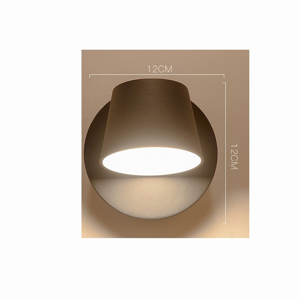 GYR GYR GYR Wall Lamp Bedside Bedroom Aisle Living Room Balcony Creative European Simple Modern Staircase Light Reading LED,Schwarz-A B078JTDZZL | Deutschland Shop