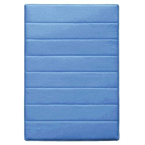 Hydrodry Sky Blue Ultimate Performance Memory Foam Large Bath Mat, 50 x 90 cm Anti Slip