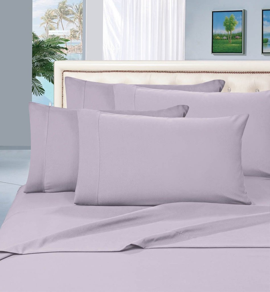 True Luxury 100% Egyptian Cotton - Genuine 1000 Thread Count 4 Piece Sheet Set- Color Silver, Size California King - Fits Mattress Upto 18'' Deep Pocket