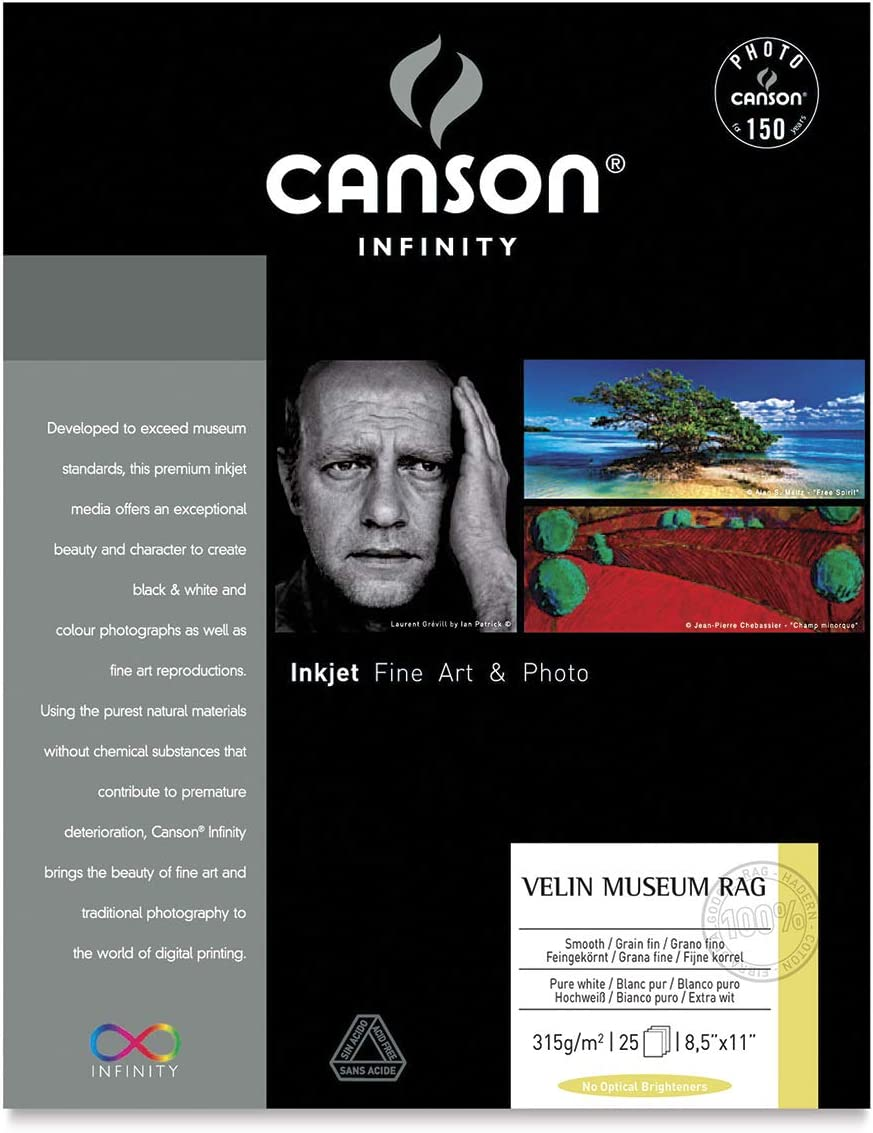 Ten 8.5x11 Inch Sheets Arches Velin 250gsm Canson Infinity