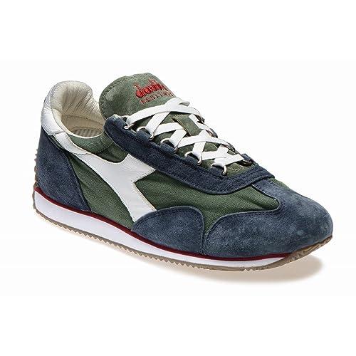 5d26f5e83e05a8 DIADORA HERITAGE man low sneakers EQUIPE STONE WASH 12 156988 01 C4846 42  Blu / verde: Amazon.co.uk: Shoes & Bags
