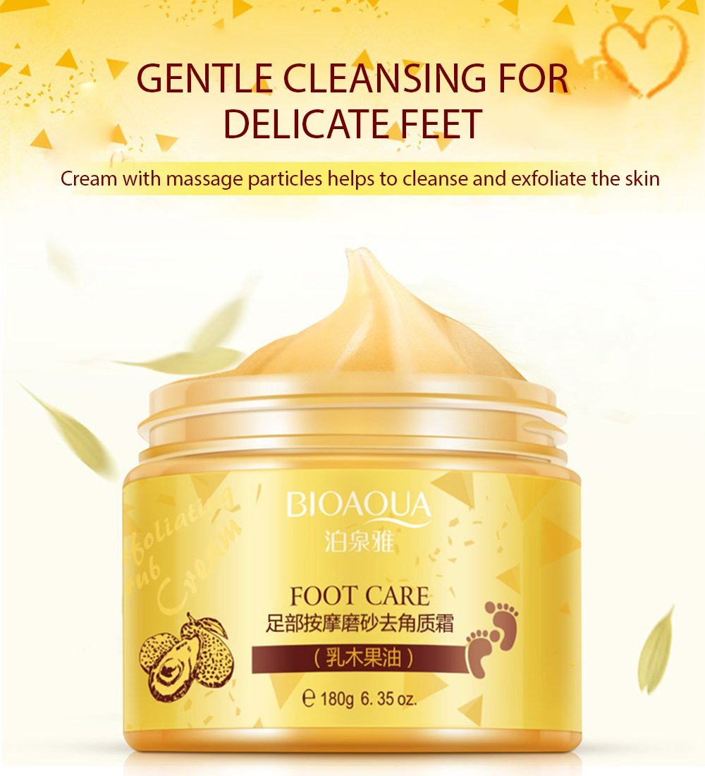 BIOAQUA Foot Care Herbal Cream Cleansing Delicate Feet Exfoliate Scrub Skin 180g by BIOAQUA (Image #2)