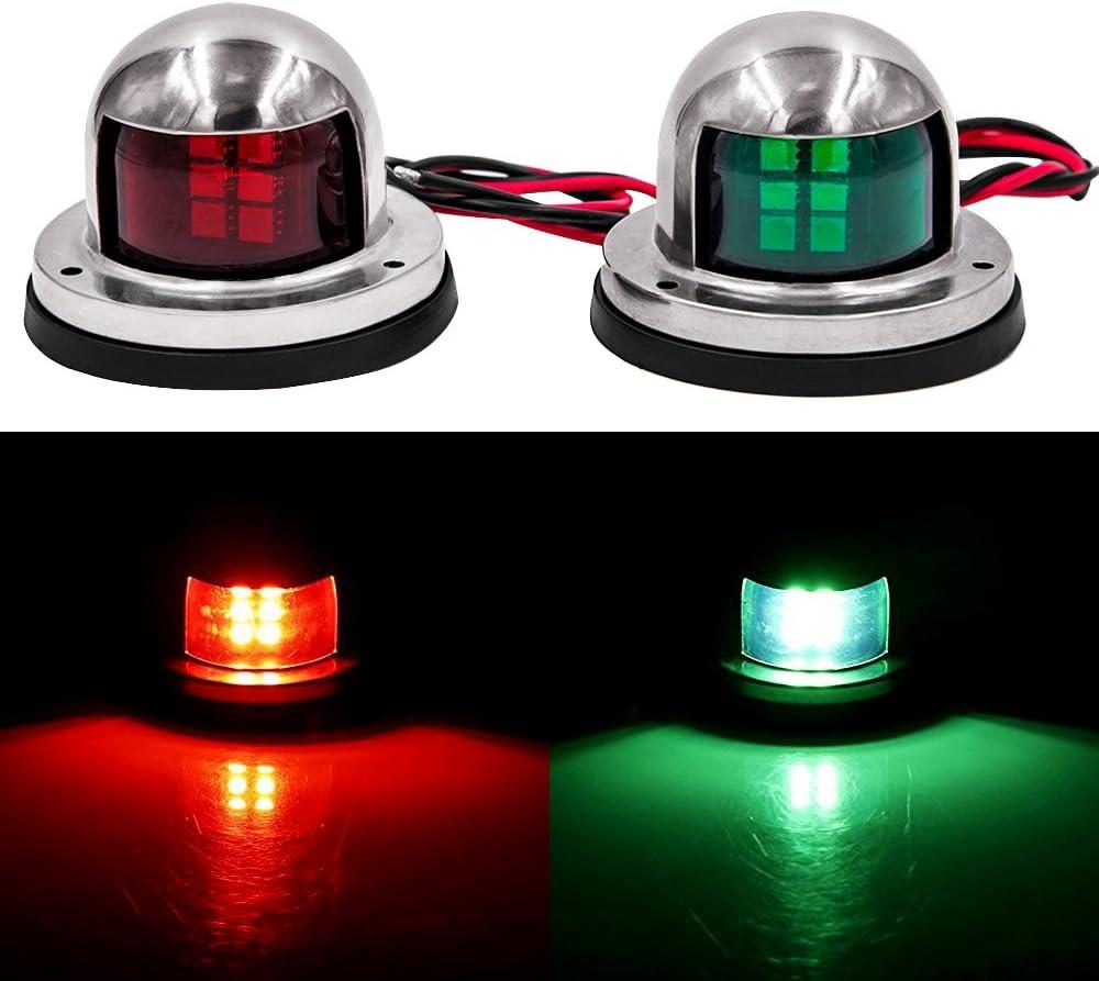 Obcursco LED Navigation Lights Deck Mount, New Marine Sailing Lights for Bow Side, Port, Starboard, Pontoons, Chandlery Boat, Yacht, Skeeter, DC 12V : Sports & Outdoors