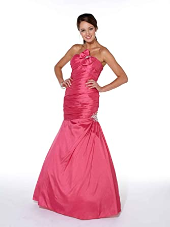 Yasmin Fish Tailed Prom Dress Ball Gown 1022031 Fuchsia 6