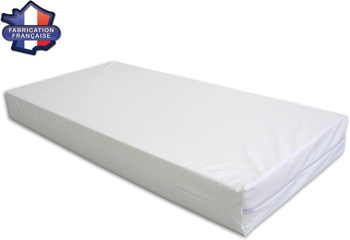 Matelas Imperm/éable d/éhoussable pour lit enfant Fabriqu/é en France 60x120 cm MODULIT