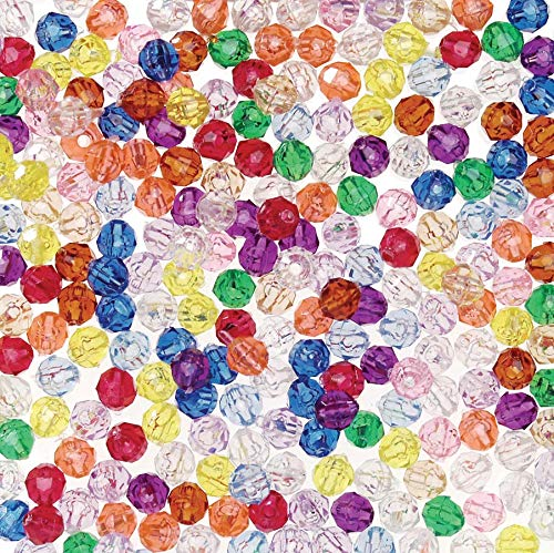 (DARICE 0601-24 Bead Faceted Translucent Multi Color 6mm Big Value (1500 Pack), Multicolor)