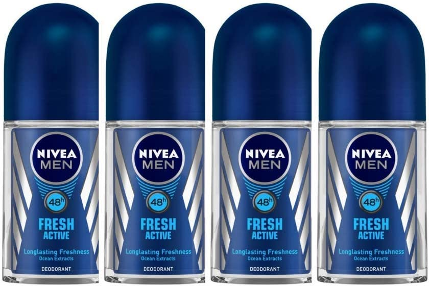 Nivea Deo Fresh Active Roll On, 50 ml (Pack of 4)