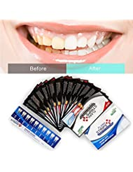 Activated Charcoal Teeth Whitening Strips,Teeth Whitening Kit,Black Teeth Strips,Teeth Bleaching, Advanced Formula With Natural Activated Charcoal 20 Strips with a Fresh Mint Flavor