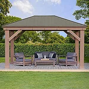 YardistryGazebo Gazebo de Cedro con Techo de Aluminio de 12 pies x 16 pies: Amazon.es: Jardín