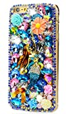 STENES Google Pixel XL Case - [Luxurious Series] 3D Handmade Shiny Crystal Sparkle Bling Case with Retro Bowknot Anti Dust Plug - Pretty Mermaid Flowers/Colorful