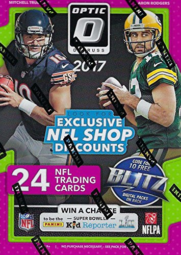 2017 Donruss OPTIC Football Factory Sealed Blaster Box of Packs with  Possible Prime Memorabilia Jerseys 1f28d3db1