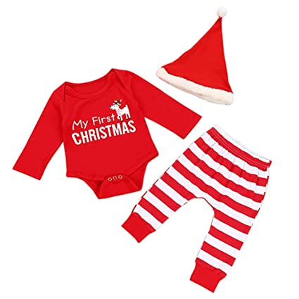 cd2c577d9087 Christmas Baby Dress Outfit Set My First Christmas Pagliaccetto e ...