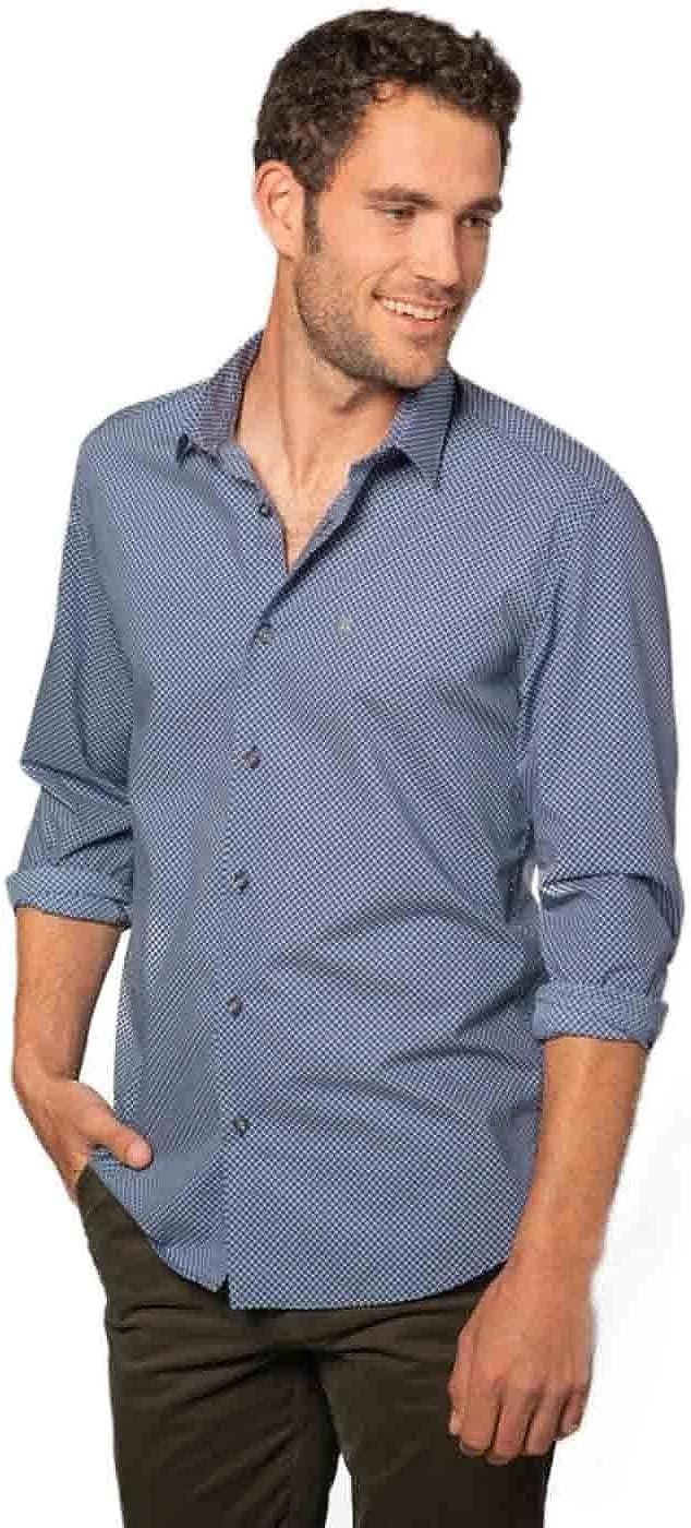 Etiem Camisa Hombre Sport Slim Estampado XL: Amazon.es: Ropa y accesorios
