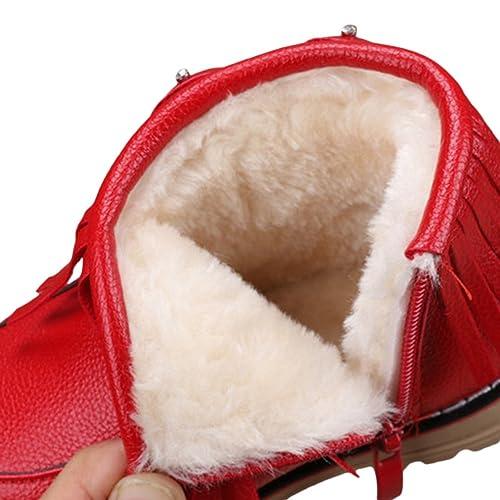 V-SOL Niñas Zapatos de Nieve Calzado Antideslizante Talla 27 Longitud de Pies 16.3cm Rojo dzuJSOwq7