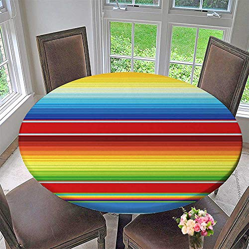 Chateau Easy-Care Cloth Tablecloth Mexican Serape Blanket Vector for Home, Party, Wedding 40
