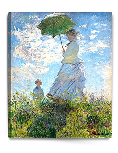 - DECORARTS - The Walk, Woman with a Parasol (1875), Claude Monet Art Reproduction. Giclee Canvas Prints Wall Art for Home Decor 30x24