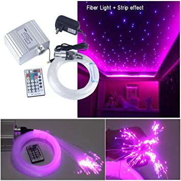 Luz LED de Fibra Óptica, 10W RGBW Luz de Fibra Óptica ...