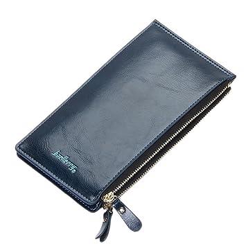 yjydada Fashion Candy colores bolso de la mujer larga cartera billetera Monedero