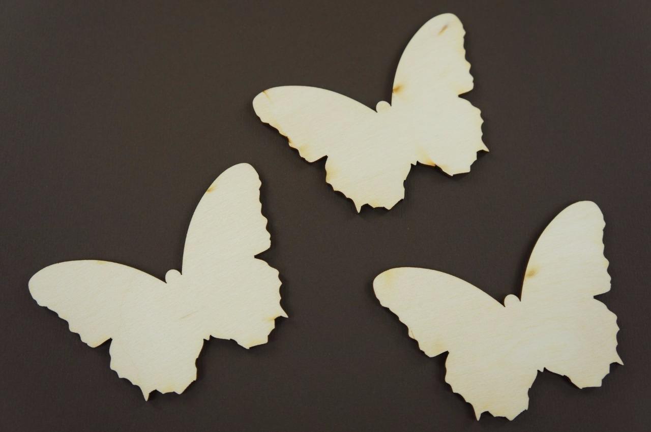 10x Schmetterling blank Form Holz Basteln Bemalen Dekoration Wohnen 3g