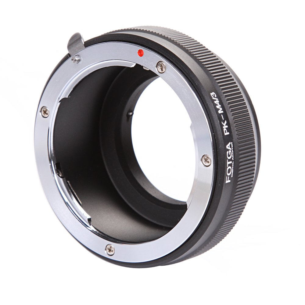 FOTGA Lens Mount Adapter for Pentax PK K Mount Lens to Micro Four Thirds(M4/3/MFT) Mount Camera Olympus PEN E-PL1,E-PL2,E-M,OM-D,E-M5,E-M10 Mark II/III Panasonic Lumix GH1,GH2,GH3,GH4,GH5,GH5s by FOTGA